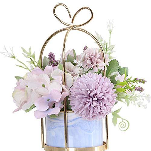 Künstliche Blumen Hortensie,Chrysantheme Topf Gefälschte Blumen Hängen Topfpflanzen Für Zuhause Wohnzimmer Büro Party Dekoration,1