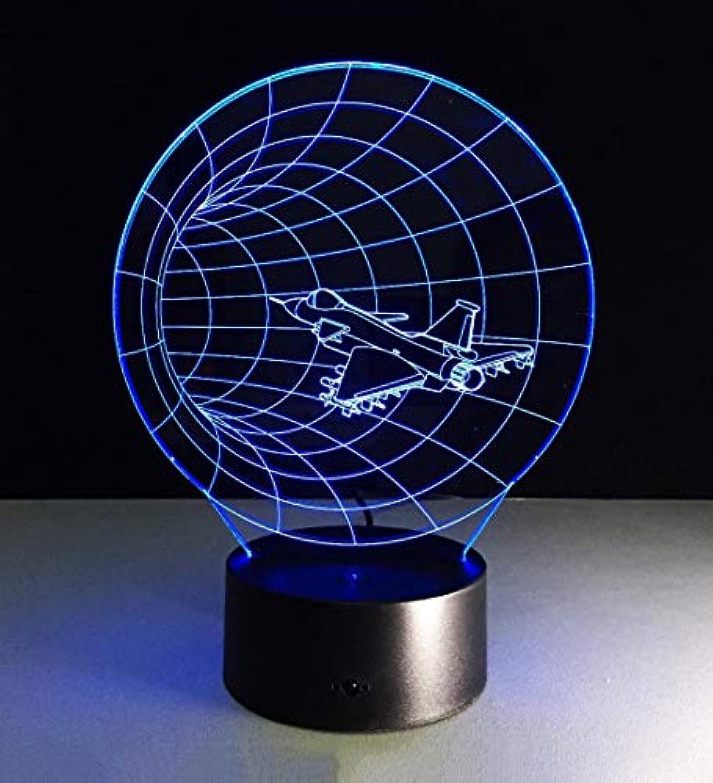 Tischleuchte 7 Farbe 3D-Tischleuchte LED Acryl Night Light Touch Fernbedienung Energieeinsparung Visual Stereo Tisch Licht Dekoration Nacht Lampen Tischlampen Leuchten (Farbe  Touch Switch)