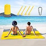 Sand Proof Beach Blanket,Large Sandless Beach Mat...