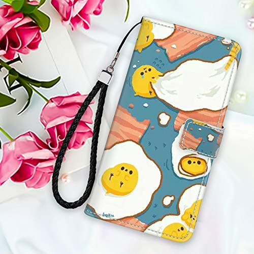 Wallet Case for Moto G6, Motorola Moto G6 Eggs Bacon Design PU Leather Magnetic Closure Shockproof Covre with Straps ID&Credit Cards Pocket Protective Shell Credit Card Holder
