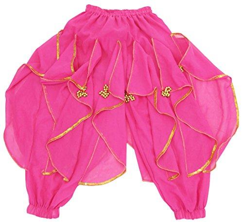 DFギャラリー ハーレムパンツ ベリーダンス衣装 玉飾り付 BA0416 チェリー キッズフリー(100〜140cm)