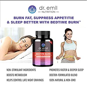 Dr. Emil - PM Fat Burner, Sleep Aid and Night Time Appetite Suppressant - Stimulant-Free Weight Loss Pills and Metabolism Booster for Men and Women (60 Diet Pills / 30 Day Supply)