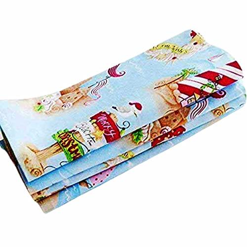 Handmade Merry Beach Christmas Napkins (Set of 4-100% Cotton) ME2 Designs Christmas Table Décor (Merry Beach Christmas)