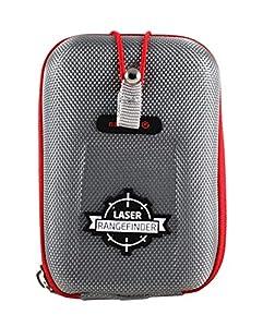 Navitech Grey EVA Hard Case/Rangefinder Cover Compatible With The Bushnell Tour V1, V2, V3, V4 Golf GPS Rangefinder with Caribina