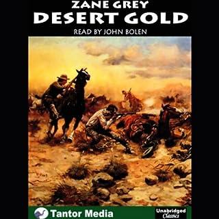 Desert Gold audiobook cover art