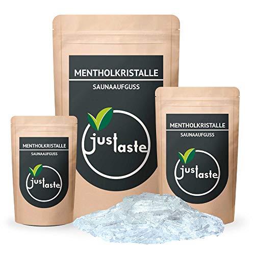 100 g Mentholkristalle | GRÖSSENAUSWAHL | Saunaaufguss | Aufguss | Sauna | Menthol | Dufterlebnis (100 g)