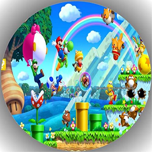 Fondant Tortenaufleger Tortenbild Geburtstag Super Mario T25