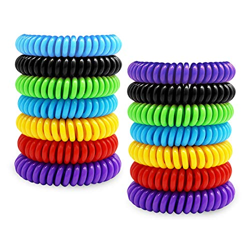 RBNANA [14 Pack] Mosquito Repellent Bracelet, Pure Natural Insect Repellent Bands for Adults and Children, Waterproof Anti Insects Wristbands for Outdoor Travel Protection