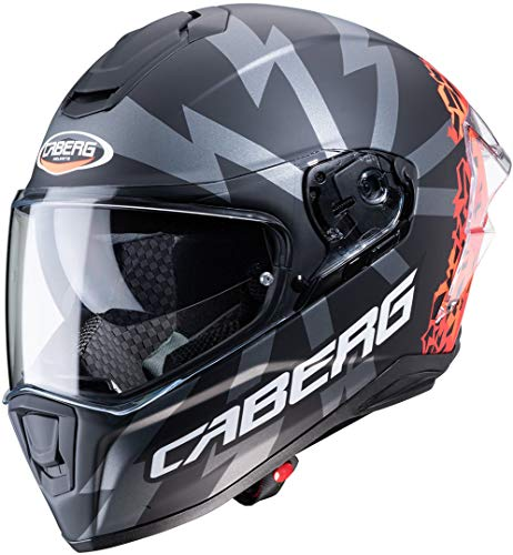 Caberg CASCO DRIFT EVO STORM MATT BLACK/RED FLUO/ORANGE FLUO L