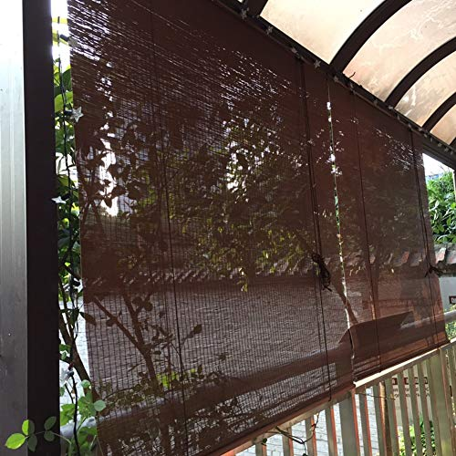 Persianas Enrollables para Patio al Aire Libre, Cortina Enrollable Exterior para Balcón Pérgola Mirador Cubierta, Fácil de Instalar, 85cm/105cm/125cm/135cm/140cm de Ancho