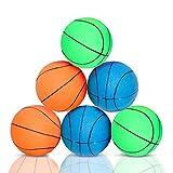Nobleza Juguete para Perros - Pelota para Perros Resistente - Espuma de Goma para Baloncesto - Diámetro 7.2cm - Paquete de 6
