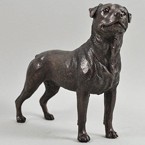 Rottweiler Dog Sculpture Cold Cast Bronze Statue Ornament Fi