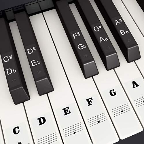 Pegatina de Piano Pegatinas de Teclados de Piano para 37, 49, 54, 61,...