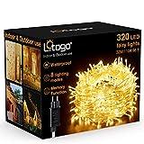 Litogo Guirnaldas Luces Exterior, 32M 320 LED Guirnaldas Luces Enchufe Luces Exterior, 8 modos...