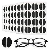 Mwoot [96 paia] Naselli in schiuma morbida Naselli autoadesivi antiscivolo Naselli sottili Naselli per occhiali Occhiali da sole (nero)