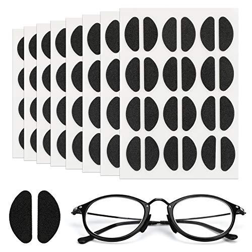 Mwoot 96 Paar Nasenpads Kit, Selbstklebende Dünne Nasenpads,Rutschfeste Weiche Schaum Nasenpads für Brillen Sonnenbrillen (Schwarz)