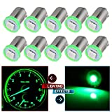 cciyu 10X BA9S LED SMD 1895 DASH INSTRUMENT PANEL CLUSTER Ash Tray Light Bulbs 1815 1816 182 1889 1891 1892 Replacement fit for Instrument panel Glove box License plate Boat cabin lamp Blue (green)