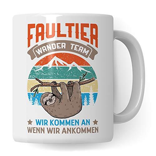 Pagma Druck Berg Tasse, Wandern Geschenk lustig, Kaffeetasse Wanderung Bergsteigen Berggehen Spruch, Kaffeebecher für Wanderer & Bergsteiger, Berge Gebirge Alpen Becher