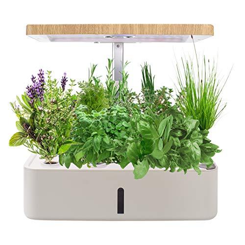 KORAM HydroponicsGrowingSystem Kit for Indoor Gardening, Smart LED Plant Grow Light Germination Kits for Home Kitchen Planting with Nutrient 12 Pots (Seeds Not Included)