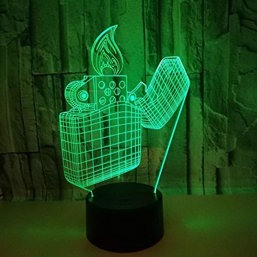 Nachtlampje LED Nachtlampje Lamp Illusion 3D, Powered by USB 16 Kleur veranderende Tafellampen Bureau Illusie Lamp Decor voor Meiden Slaapkamer