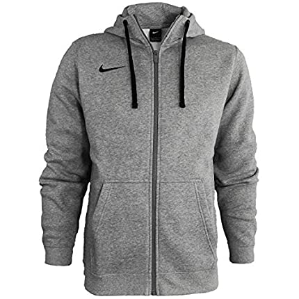 NIKE M Hoodie FZ FLC TM Club19 Sweatshirt, Hombre, Dk Grey Heather/ Dark Steel Grey/ Black/ Black, L