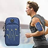 MyCase Universal 6.2 Inch Or Under Phone Zipper Double Bag Multi-Functional Sport Arm Case with Earphone Hole for iPhone, Samsung, Sony, Huawei, Meizu, Lenovo, ASUS, Oneplus, Ulefone, Letv, DOOGEE