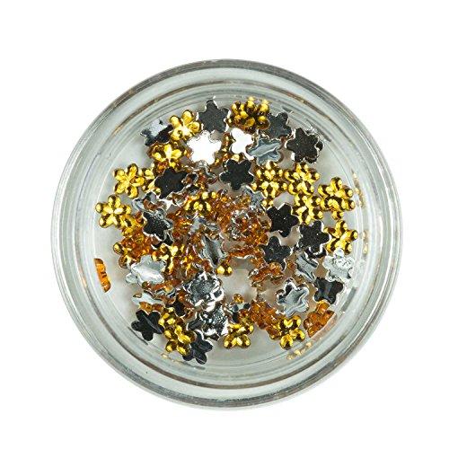 Strass Fleurs Pierres de Strass Or avec décoration en cristal Rhinestones Nail Art