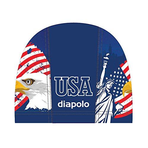 Diapolo Professionale Schwimmkappe USA Lycra Badekappe Bademütze Schwimmmütze für Damen und Herren und Mädchen und Jungen