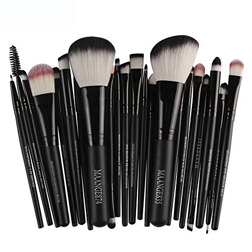 JIA Meng 22 stücke Kosmetik Make-Up Pinsel Rouge Lidschatten Pinsel Set Kit (16CM, Schwarz)