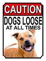 注意犬は常に緩んでいます 金属板ブリキ看板警告サイン注意サイン表示パネル情報サイン金属安全サイン