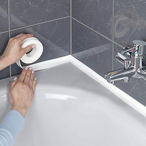 Shop Story – Rollo de juntas adhesivas para cocina y cuarto de baño, grosor 2,2 cm, longitud 3,2 m, color blanco