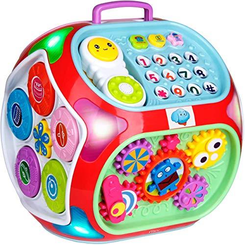 Miric - 7 en 1 Música Cubo de Actividades Juguetes Bebes 1 Año con Sonido, Dados de...