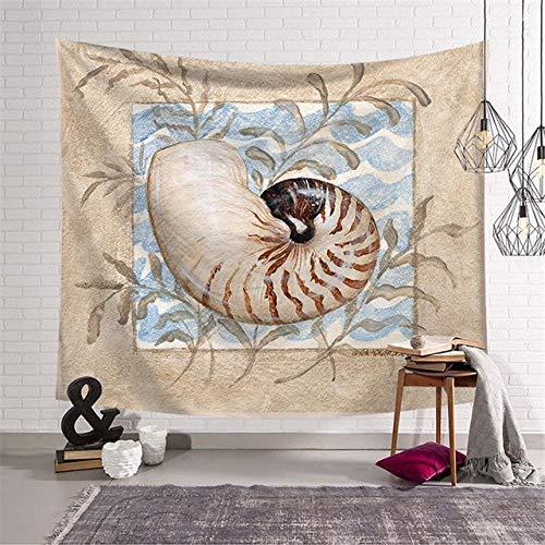 Tapiz colgante de pared de animales marinos para colgar en la pared, decoración bohemia para el hogar, cojín para dormir en la playa, tapiz de pared 150x179CM