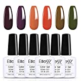 Elite99 Smalto Semipermanente per Unghie, Caramello Serie Set per Manicure in 6PCS Gel Colores,Smalti in Gel per Unghie Soak Off UV Manicure 10ML - C002