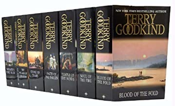 Terry Goodkind 8 Books Collection Set Gollancz S.F The Sword of Truth Series (Blood Of The Fold, Temple Of The Winds, Soul Of The Fire, Stone Of Tears, The Pillars of Creation, Debt of Bones, Wizard's First Rule, Faith Of The Fallen)