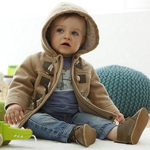 ZIYOYOR Baby Boys Cotton Fleece Hooded Jacket Outerwear Duffle Coat