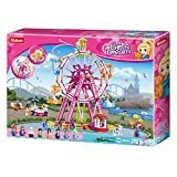 SlubanKids Girls Dream Ferris Wheel 789 Pc Building Blocks for Kids, Colorful 3D Stackable Toys, Fun DIY Building and Creative Play, Includes People, DIY Design