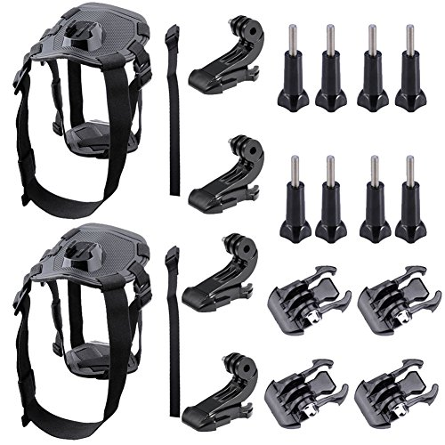 Neewer (2-Pack) Pet Dog Chest Harness Kit Chest Strap Belt Mount...
