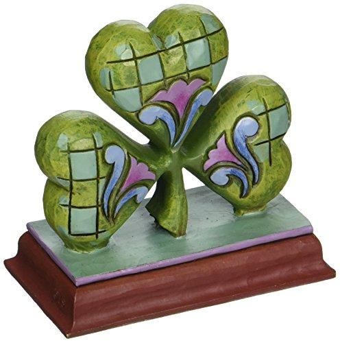 "Jim Shore Heartwood Creek Mini Shamrock Stone Resin Figurine, 2.875"""