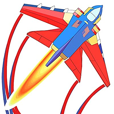 Newest Large Fighter Jet Kite for Kids Easy to Fly,Beach Kites for Adult, Colorful Plane for Beginner Easy to Assemble and Flying High, Perfect Beach Trip Gift Leaving Precious Memories.