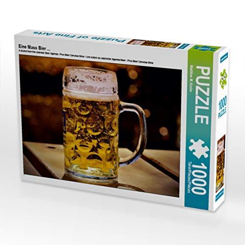 CALVENDO Puzzle Eine Mass Bier ... 1000 Teile Lege-Größe 64 x 48 cm Foto-Puzzle Bild von Mark Krahe