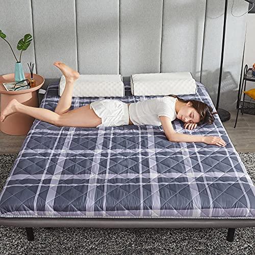 XUEXIUJIE Materasso levigante Addensato Materasso futon Materasso per dormitorio per Studenti Materasso Tatami per Uso Domestico Materasso Singolo Letto Matrimoniale Materasso Antiscivolo quattr