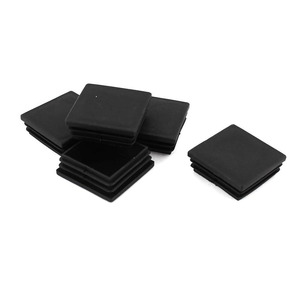 黒人チロブランデーuxcell 椅子脚カバー 椅子足キャップ イス 足キャップ 椅子の足 キズ防止 騒音防止 角パイプキャップ 正方形内栓 ブラック プラスチック 50mmx50mm 5個セット