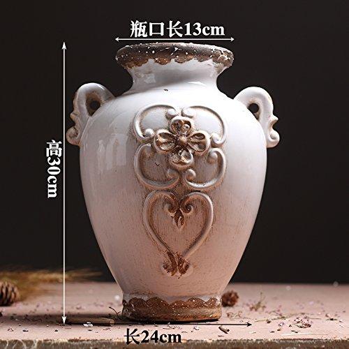 Vases en céramique rétro salon est meublé dans le modèle sec 46 pour chambre d'hôtel est décoré et meublé , oreilles blanc doux grands vases