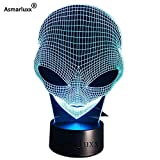 Kopf holographische Illusion einzigartige Lampe Acryl Nachtlicht mit Touch-Schalter Lava Lampe Farbwechsel dekoratives Geschenk