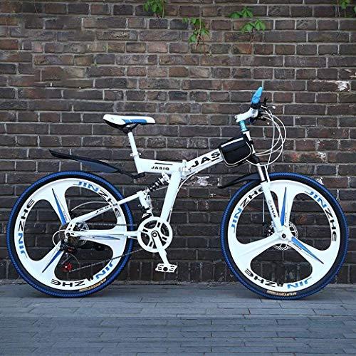 Aoyo Off-Road Variable Speed Rennrad Mountainbike Falträder, 24-Zoll-Doppelscheibenbremse Fully Anti-Slip, Männer und Frauen, (Color : B, Size : 24Speed)