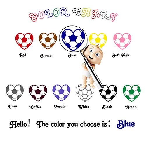 Mooie stickers op de fiets Muursticker voor kinderkamer Decor Muurtattoo Waterdicht behang Vinyl, blauw, L 43 cm x 61 cm