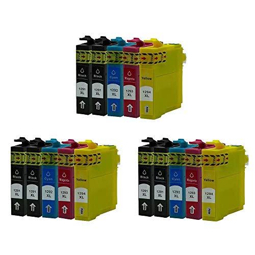 ZYL - Cartuchos de tinta de repuesto para Epson Workforce Pro WF-7015WF-7515 WF-7525 WF-3010DW WF-3530DTWF WF-3540DTWF Stylus Office B42WD BX305F BX305FW BX305FW Plus (15 unidades + 3 unidades), color negro