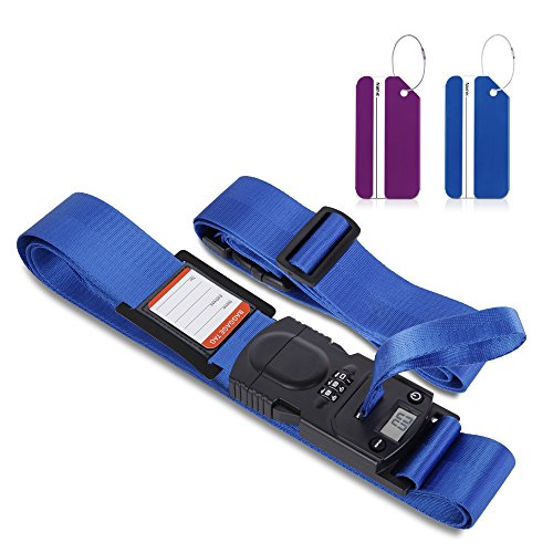 Cross Luggage Straps, Goingmen Suitcase Belt with Luggage Scale & 2...