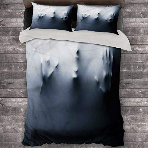 LanQiao Horror House King Bed Comforter Scared Shouting Person. 68'x86' inch King Duvet Set